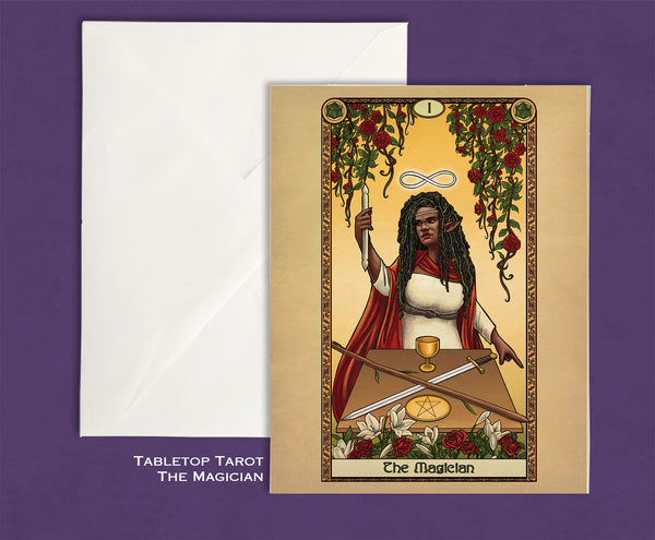 Tabletop Tarot - The Magician Greeting Card