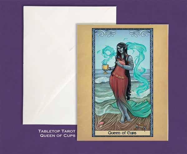 Tabletop Tarot - Queen of Cups Greeting Card