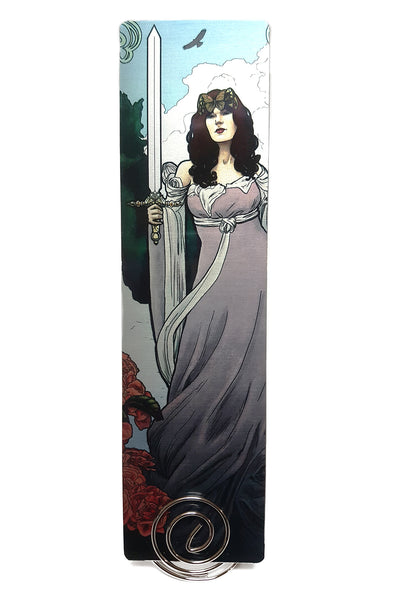 Tabletop Tarot - Queen of Swords Metal Bookmark