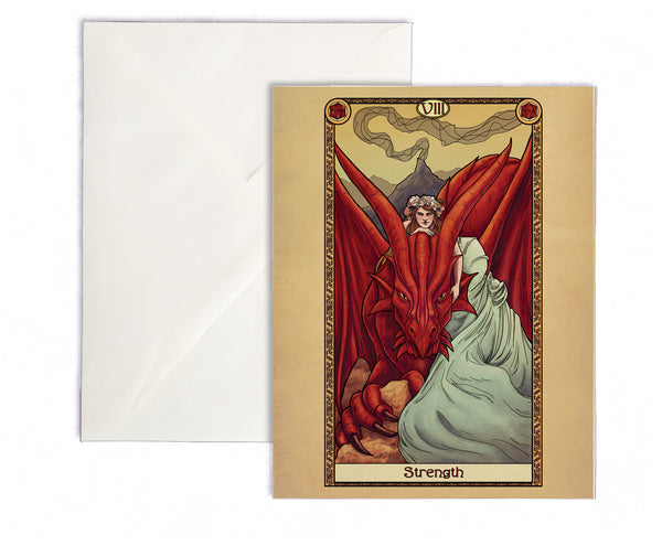 Tabletop Tarot - Strength Greeting Card