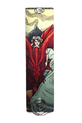 Tabletop Tarot - Strength Metal Bookmark