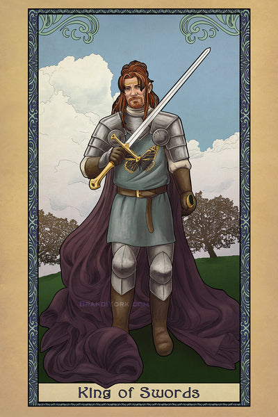 Tabletop Tarot - King of Swords - Print