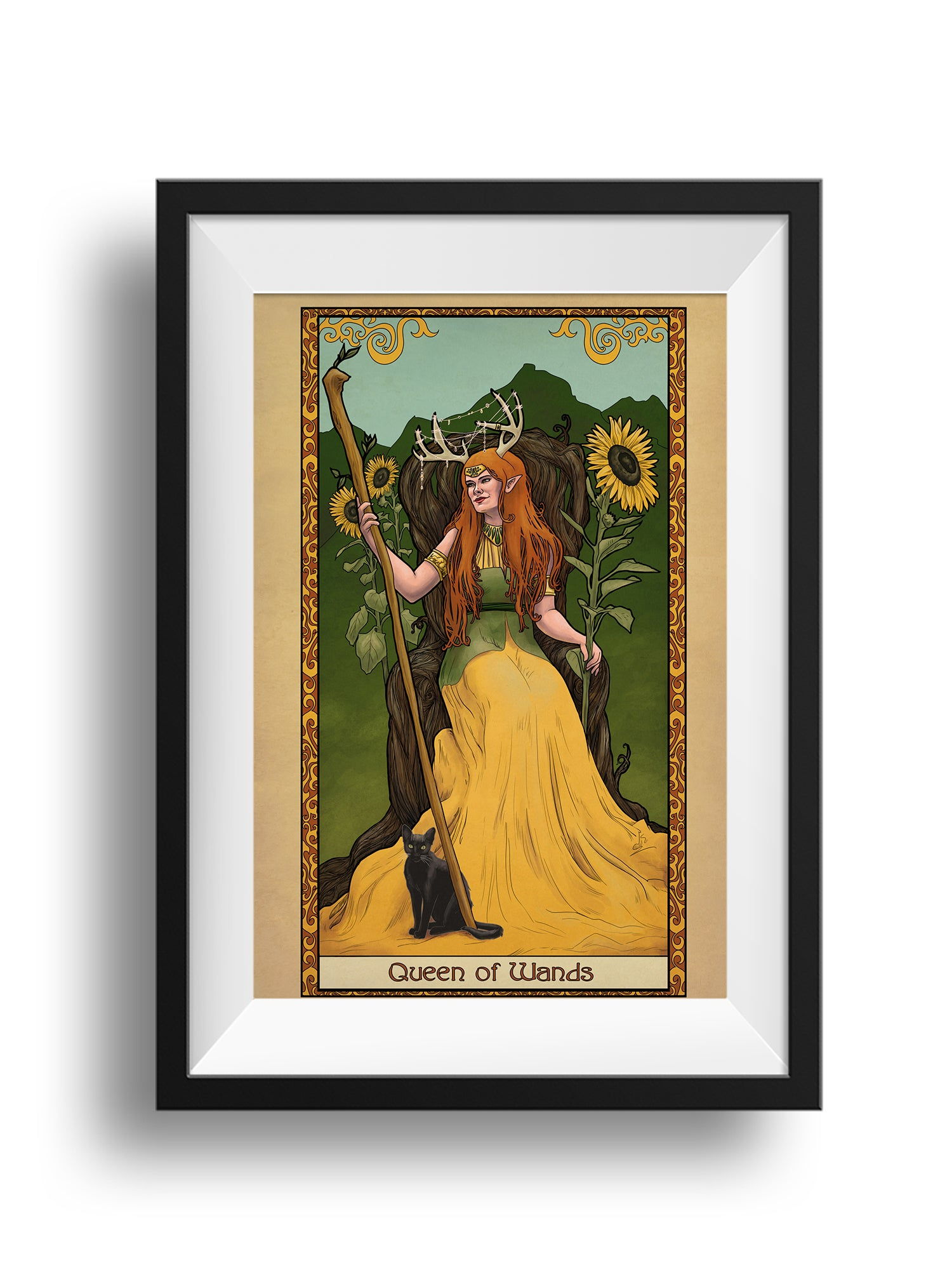 Tabletop Tarot - Queen of Wands- Print