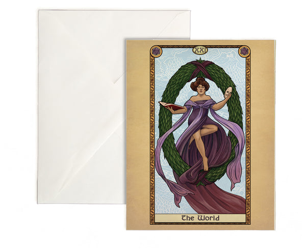 Tabletop Tarot - The World Greeting Card