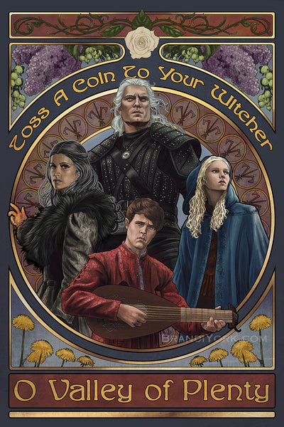 Toss A Coin - The Witcher Print