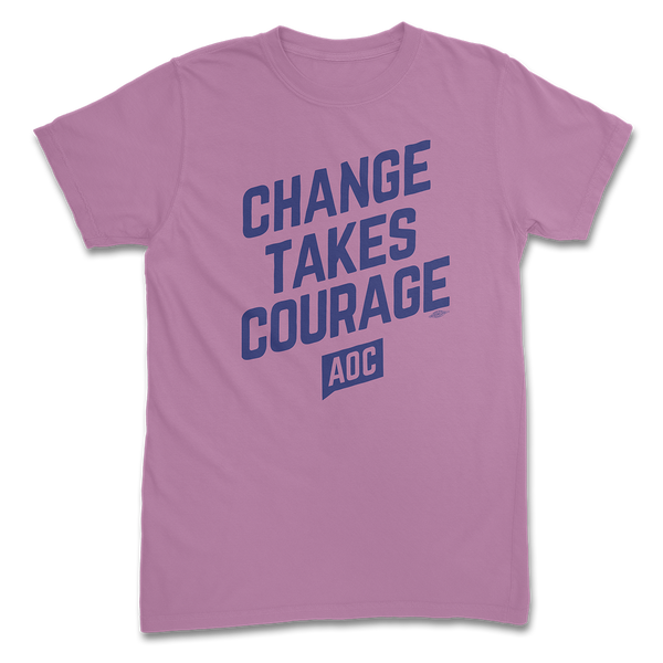 "Camiseta orgánica ""Change Takes Courage"" (Unisex)"