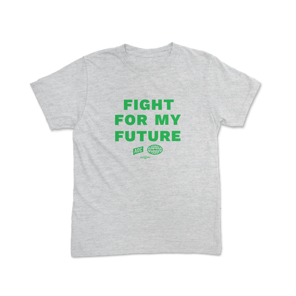 """Fight For My Future"" Youth Grey Tee"