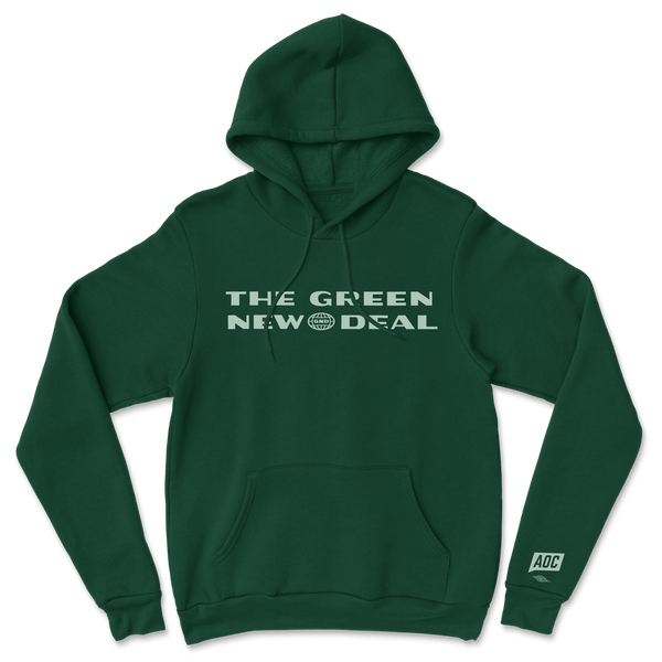Sudadera Verde New Deal (Unisex)