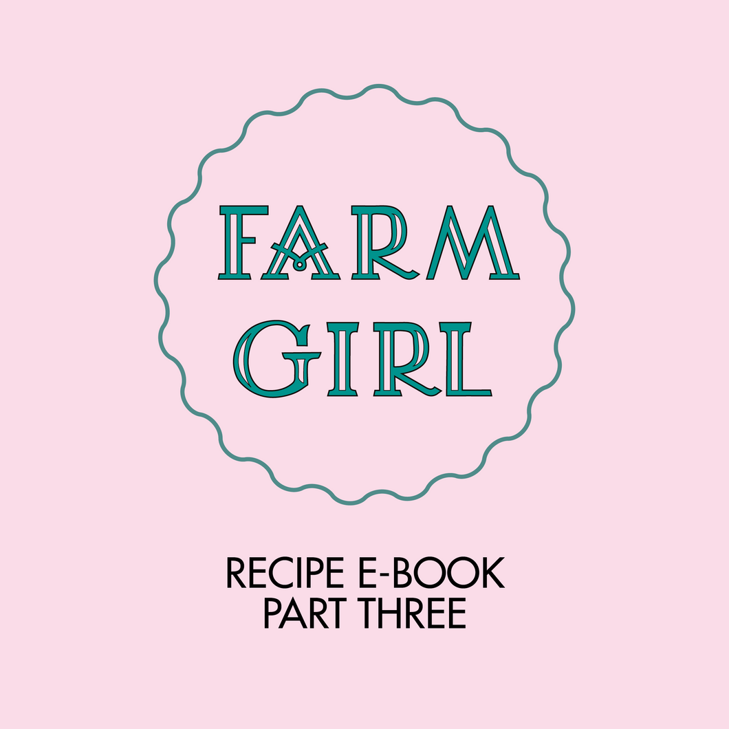 Recipe Book Part Three
