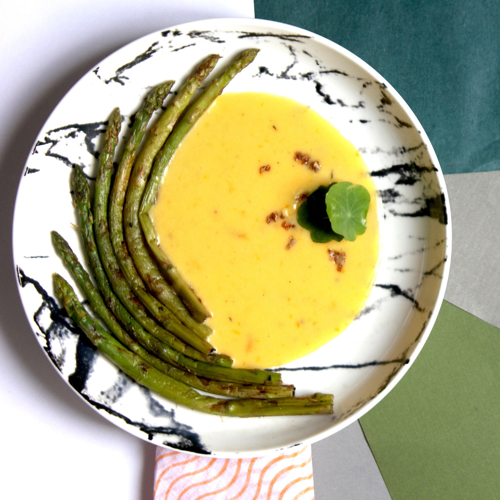 Grilled Asparagus with Orange Hollandaise