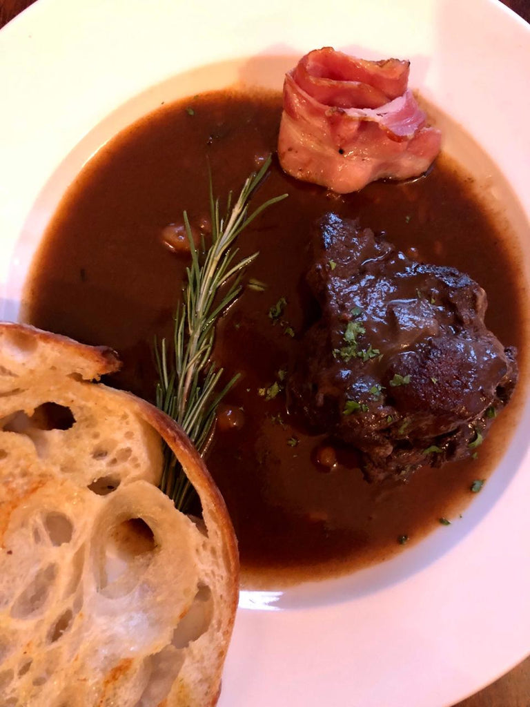 The Rustic Beef Bourguignon with Fig Ginger Whiskey Spread