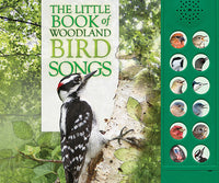 Book Cover has picture of Downy Woodpecker and pictures of the 12 buttons for bird songs