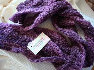 SALE - Long and Lucious Ladies Lavender Twist Scarf - 4A