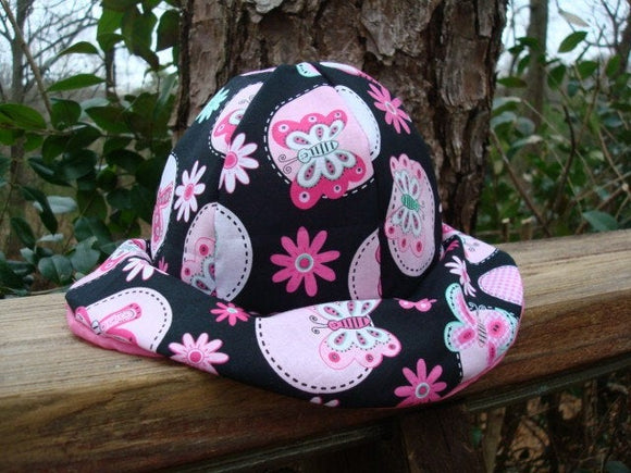 Lightweight Cotton Baby Girl's Sewn Butterfly Floral Sunhat - Carly 639