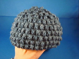 Eco-Friendly Crocheted Baby Boy Hat of Recycled Materials - Cornflower 532