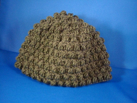 Eco Friendly Crocheted Toddler Boys Hat made of Recycled Materials - Asparagus 533