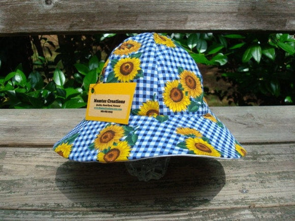 Infant Lightweight Cotton Sunflower Summer Sunhat - Picnic Time 682