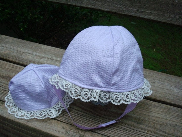 Baby Girl's Summer Bonnet with Matching Doll Hat - Evelyn 738