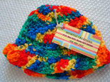 Primary Colors Gender Neutral Baby Bonnet - Newborn - Crayon 36