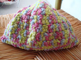 Lime and Pink Toddler Girl Crocheted Beanie Hat - 206