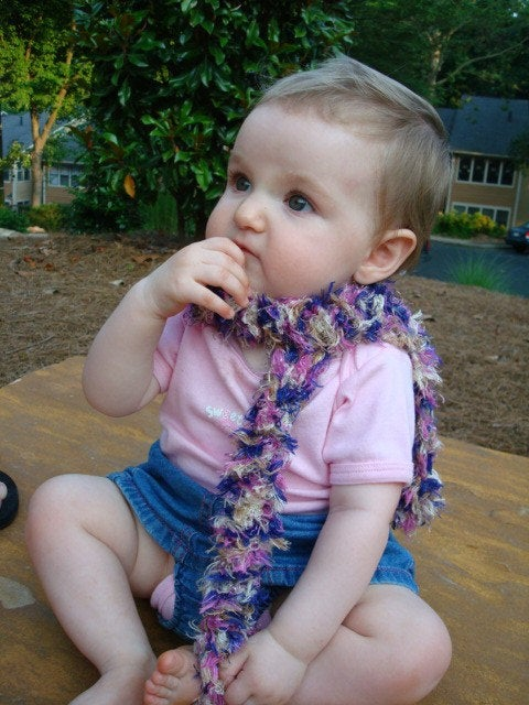 Frilly Hand-Stitched Baby or Toddler Girls Decorative Scarf - Princess 347