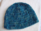 Youth Boys Summer Beanie Hat - Handmade, Hand-Painted - Slate 87B
