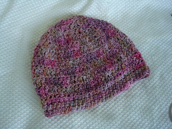 Cotton Collection - Hand Stitched, Hand Painted Toddler Girls Hat - Rosebuds 407