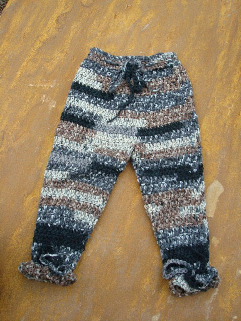 Hand Stitched Toddler Boys Cozy Adjustable Leg Pants - Granite 442