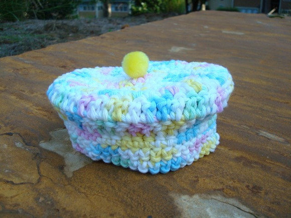 Unisex Crocheted Thick Cotton Baby Cupcake Hat - 444