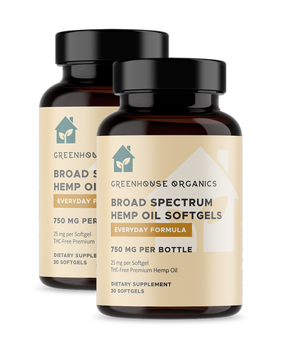 Hemp Oil Softgels 25 mg (Qty 30)