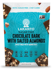 Load image into Gallery viewer, Lakanto Sugar-Free Chocolate Bark with Salted Almonds