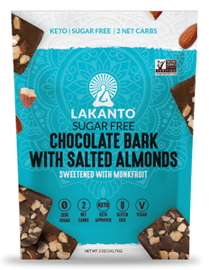 Lakanto Sugar-Free Chocolate Bark with Salted Almonds