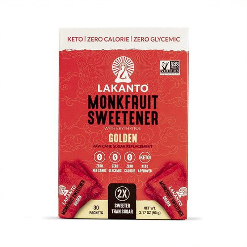 Lakanto Monk Fruit 1:1 Sugar Substitute - 3Gx30 Sweetener Packets - 2 PK