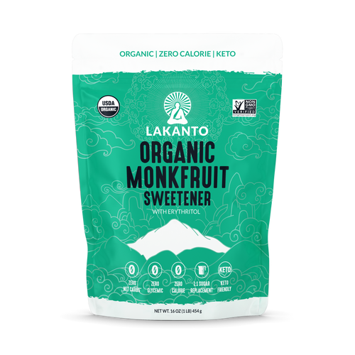 Lakanto Organic Monk Fruit Sweetener with Erythritol 1:1 Sugar Substitute - 16 OZ