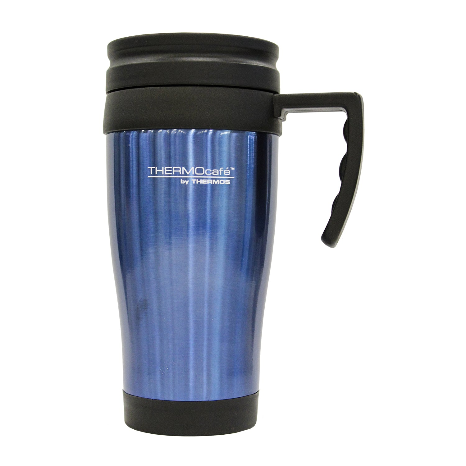 Mug Acero Inoxidable 420ml Azul