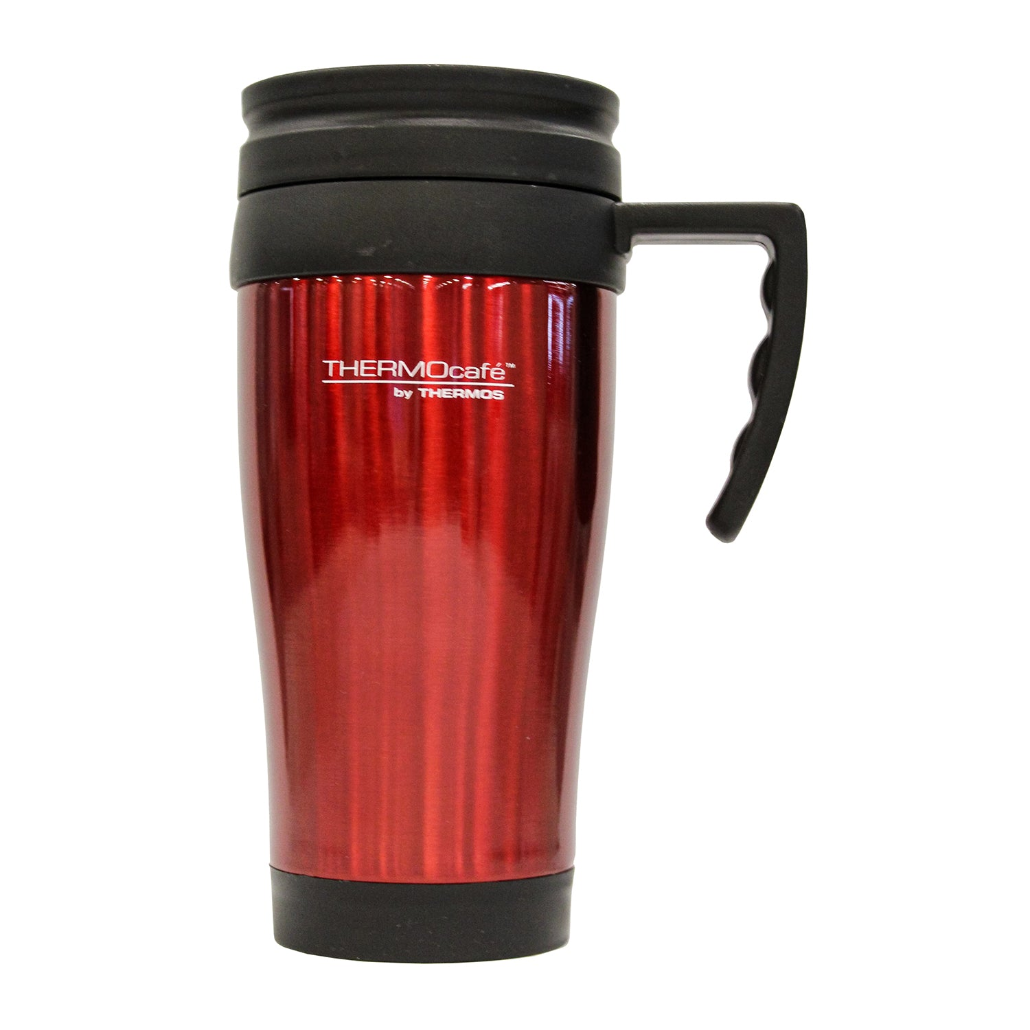 Mug Acero Inoxidable 420ml Rojo