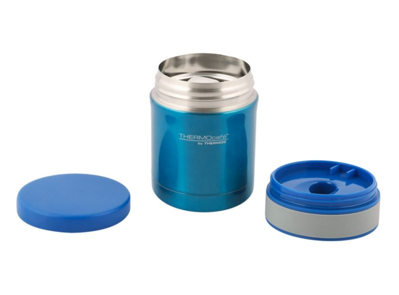 Termo Comida Acero Inoxidable Azul Thermoscafe 350Ml