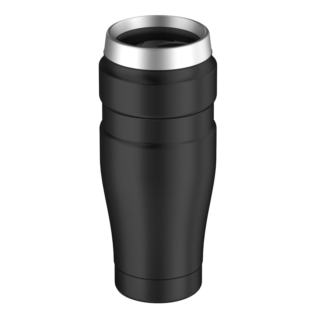 Mug 470ml King Acero Inox. Negro