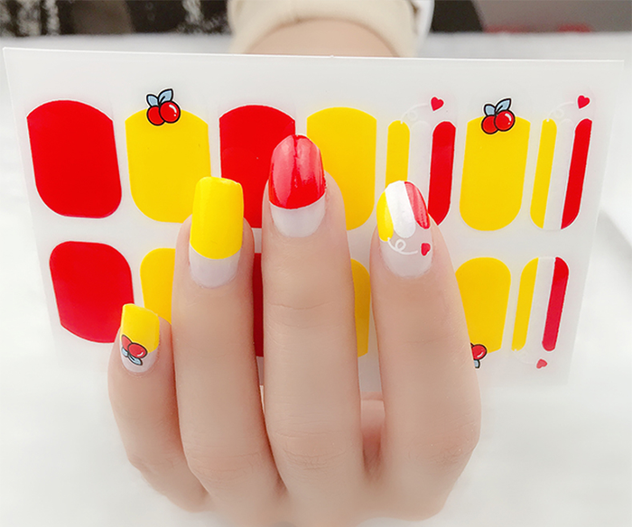 Cherry Sun Gel Nail Wraps