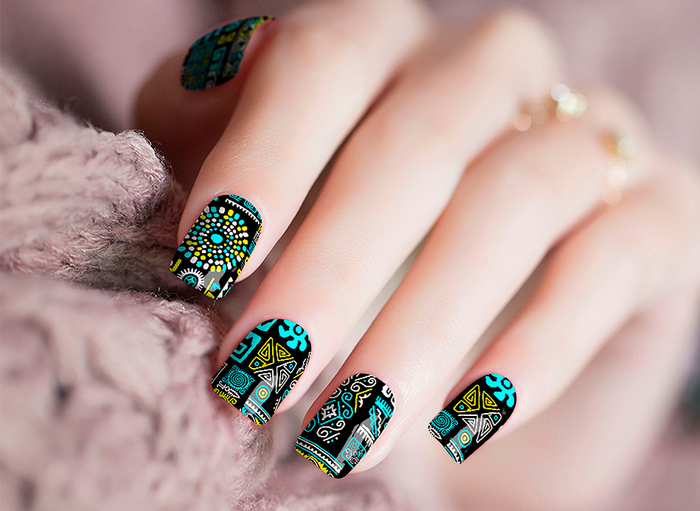 Teal Out Nail Wraps