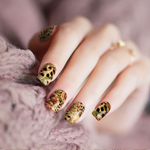 Cheetah Rose Nail Wraps