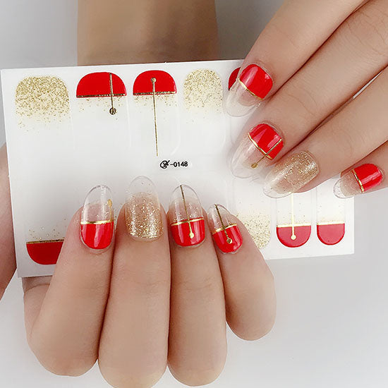 Gold Dust Gel Nail Wraps