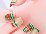 Holiday Stripes Nail Wraps