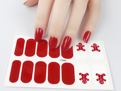 Gingerbread Gel Nail Wraps