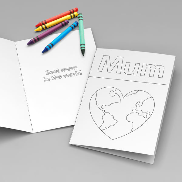 Best Mum In The World (colouring sheet)