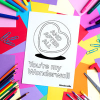 You're My Wonderwall (colouring sheet)