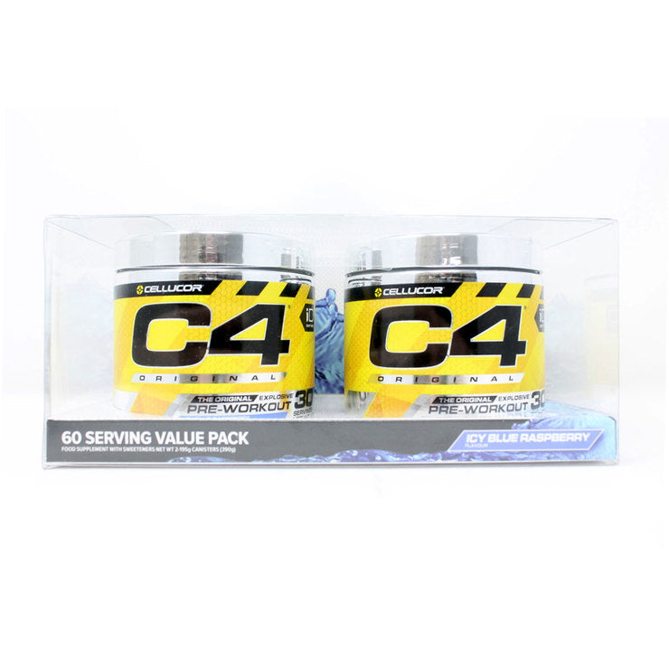 Cellucor C4 Pre-Workout Icy Blue Raspberry 2 x 195g