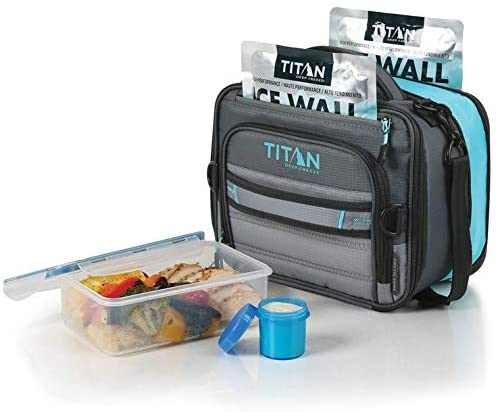 Titan Deep Freeze® Expandable Lunch Box with 2 Ice Walls & Leak Proof Container set