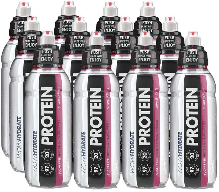WOW Hydrate Protein Water 12 x 500ml