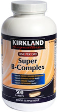 Load image into Gallery viewer, Kirkland Signature Super-B Complex Vitamin B 500ct 500 Tablets